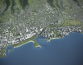 Oahu Island 3D asset game-ready