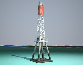 3D model The Creal Reef Lighthouse Low poly