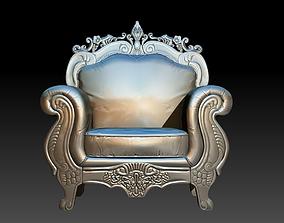 3D printable model furniture-europeanism chair