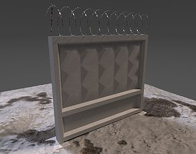 3D model Soviet Concrete Fence
