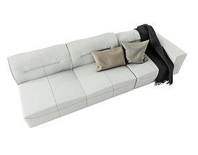 3D model BoConcept Hampton Sofa in Leather