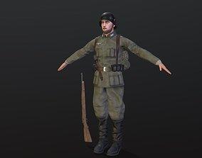 3D asset Wehrmacht Infantry soldier