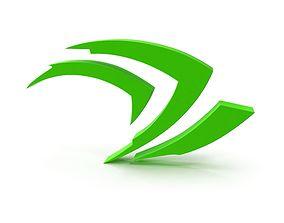 3D model Logo Nvidia