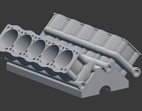 v10 engine block 3D printable model