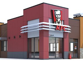 bell Fast food restaurant 3D model