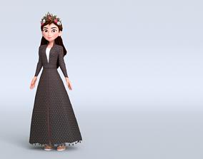 3D asset Harvest Queen Character