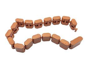 3D print model Plain link Bracelet