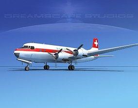 3D Douglas DC-6 Balair