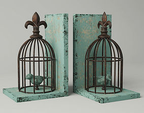 Birdcage Bookend 2 3D