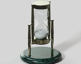 Brass and Marble Hourglass 3D