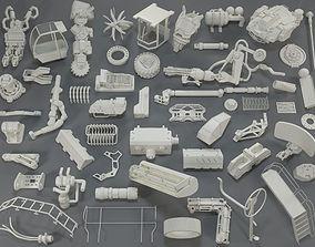 Kit bash - 54 pieces - collection-16 3D model