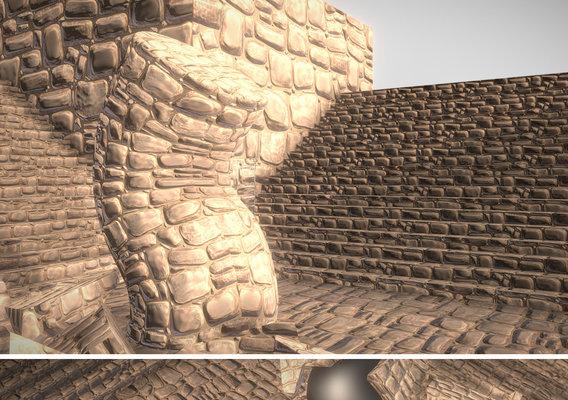 Cracked Sandstone Surface -1- Texture Set -46-