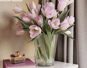 3D model realtime Tulip Flowers