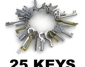 3D model 25 Keys collection