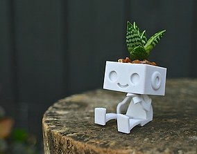 Robbie the Robot Planter 3D print model
