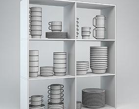 3D model Porcelain Tableware Set TC100 kitchenware