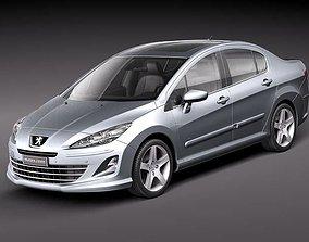 Peugeot 408 sedan 2011 3D model