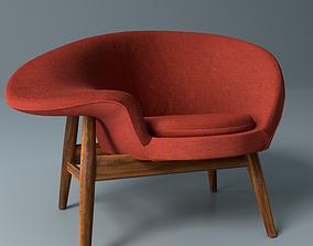 Fried Egg chair single sofa 3d model