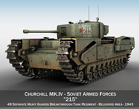 3D tank Churchill MK IV - 215 - Soviet Army