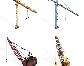 Industrial Cranes Collection 3D asset