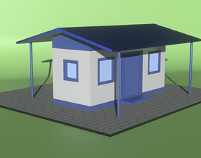 Police Outpost 3D asset