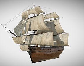 HMS Vanguard Sailing ship 3D model