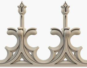 Gothic fence CNC 3D model