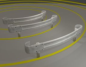 3D asset Guardrail - Japanese curved and dirty - low