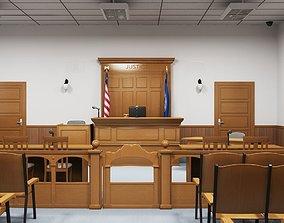 Courtroom Interior 3D model
