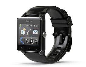 Sony Smart watch 2 Black 3D asset