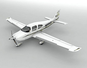 3D model Cirrus SR-22 Aircraft LOW