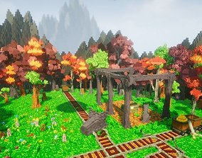 3D asset Pro-VOX Uncharted Voxel Nature Pack