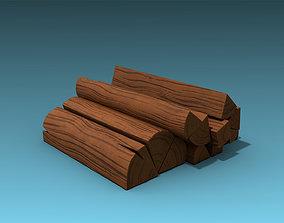 3D model Stylized Firewood