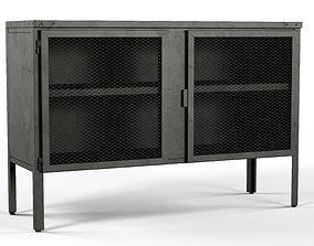 3D asset 2 door Buffet Bar Industrial Style