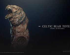 totem Celtic Bear Totem 3D print model