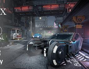 3D PBR CyberPunk City