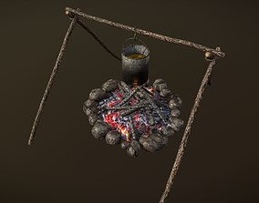 3D model Campfire and Cooking Place
