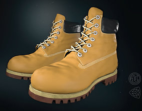 Yellow Timberland Boots 3D asset realtime