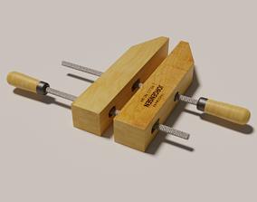 Wooden handscrew clamp 3D asset realtime