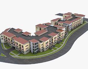 3D asset Apartment Complex 02