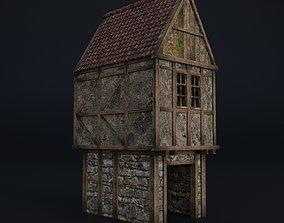 3D asset OLD MEDIEVAL BUILDING 01
