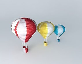 3D model 3 Balloon suspensions houses the world