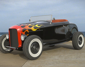 3D Hot Rod Roadster hotrod