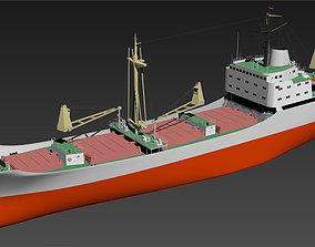3DMAX model-ocean-going freighter