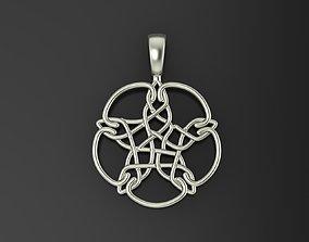 Pentagram pendant 3D printable model