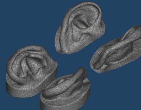 Natural human ear anatomy 02 3D printable model