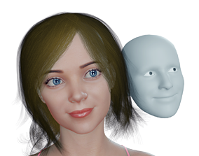 Real Time Facial Capture in Blender with 3D model 1