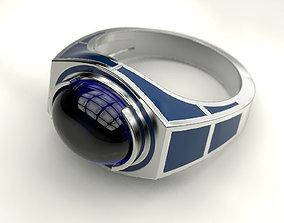 Ring with enamel R2D2 3D print model