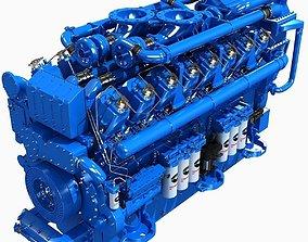 3D model Blue V12 Diesel Engine