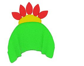 3D asset Towel Flower